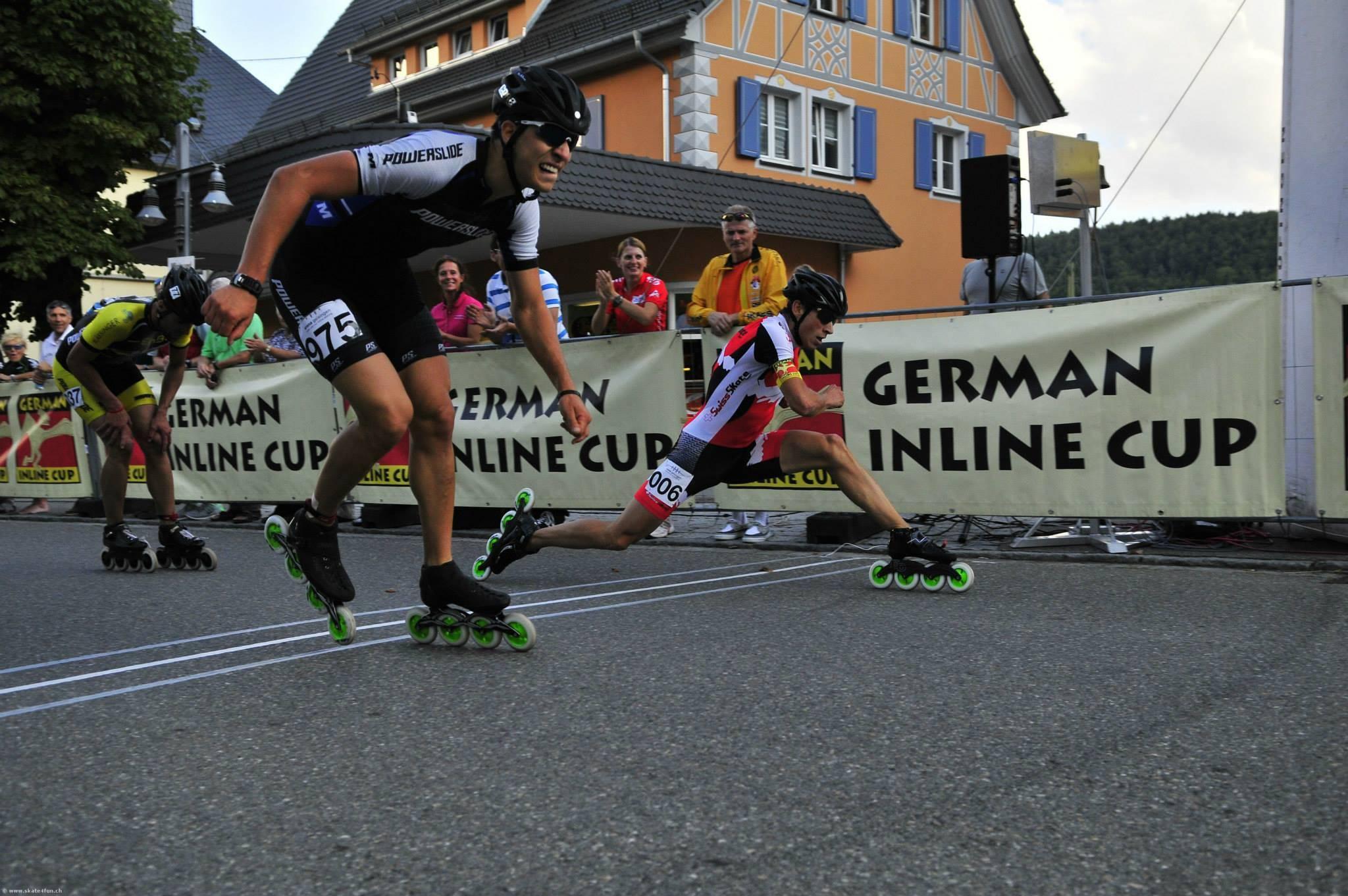 Swiss Skate Tour zu Gast in Geisingen (D) – Severin Widmer duellierte sich mit ehemaligem Weltmeister
