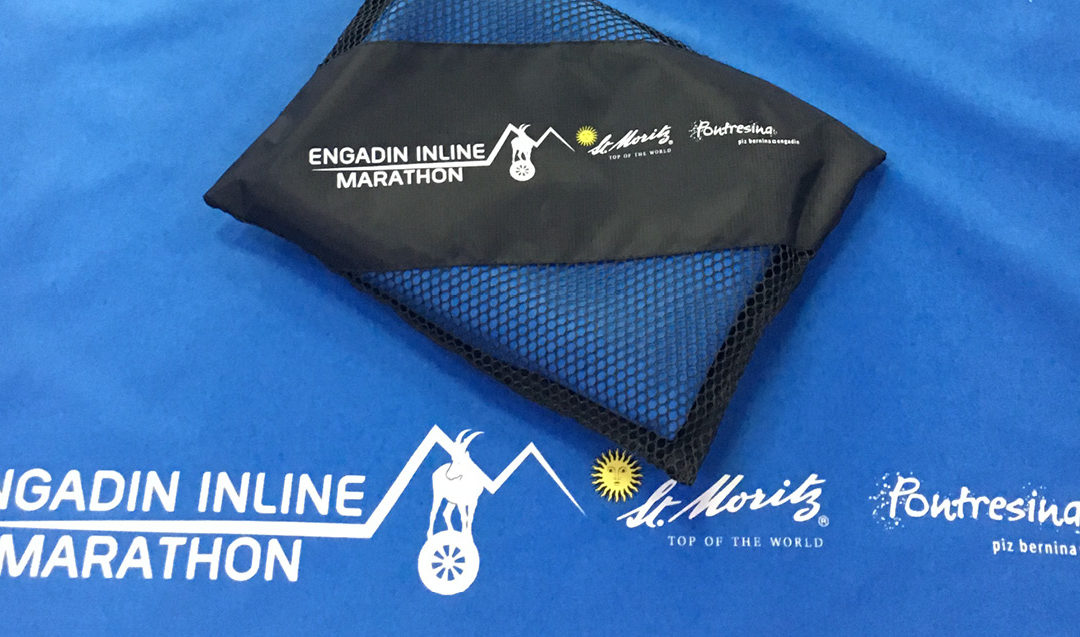 "Register now and get a Sport Towel ""Engadin Inline Marathon"""