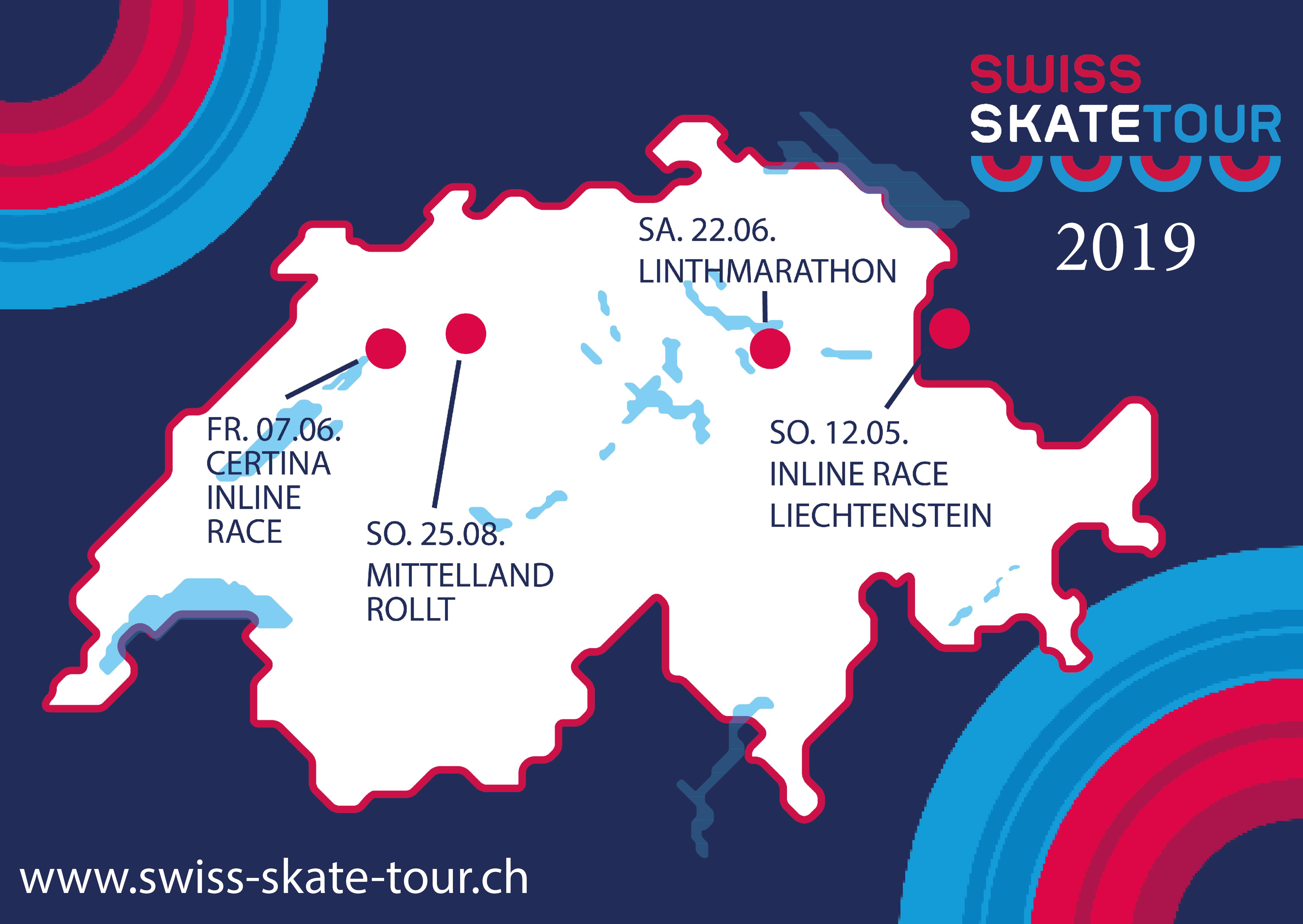 Swiss Skate Tour 2019 mit 4 Etappen und neuem Organisator